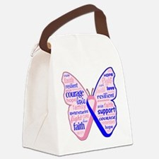 Butterfly Male Breast Cancer Canvas Lunch Bag