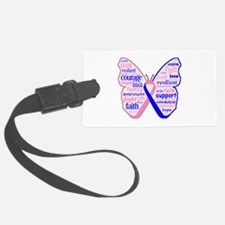 Butterfly Male Breast Cancer Luggage Tag