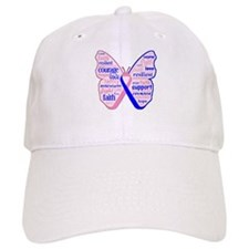 Butterfly Male Breast Cancer Baseball Cap