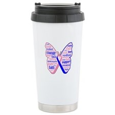 Butterfly Male Breast Cancer Travel Mug