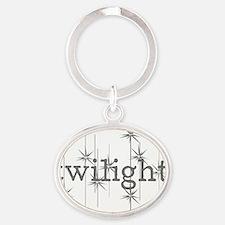 Twilight Oval Keychain