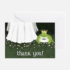 Frog Prince And Princess Wedding Thank You Card