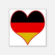 "Peace Love Germany Square Sticker 3"" x 3"""