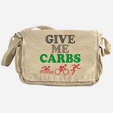 give me carbs Messenger Bag