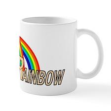 double rainbow lettering light Mug
