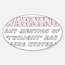 twilight warning light Decal