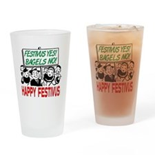 festivus_sign_crowd Drinking Glass