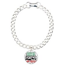 festivus_sign_crowd Charm Bracelet, One Charm