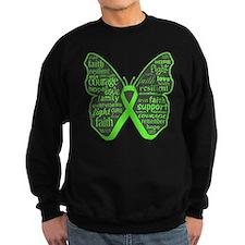 Butterfly Lymphoma Ribbon Sweatshirt