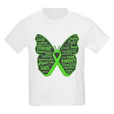 Butterfly Lymphoma Ribbon T-Shirt