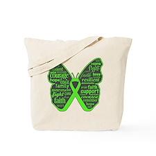Butterfly Lymphoma Ribbon Tote Bag