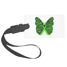 Butterfly Lymphoma Ribbon Luggage Tag