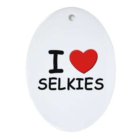 I love selkies Oval Ornament