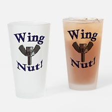 WingNut w words Purple Drinking Glass