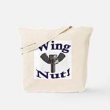 WingNut w words Purple Tote Bag