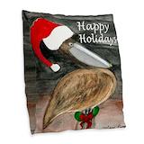 Holiday tropical Burlap Pillows
