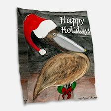 Santa Pelican Holiday Throw Pillow From Art Burlap