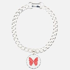 Butterfly Lung Cancer Ribbon Bracelet