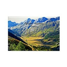 Majestic Pyrenees Mountains Rectangle Magnet