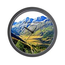 Majestic Pyrenees Mountains Wall Clock