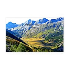 Majestic Pyrenees Mountains Rectangle Car Magnet