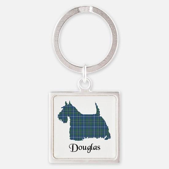 Terrier - Douglas Square Keychain