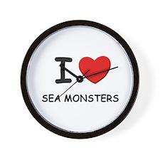 I love sea monsters Wall Clock