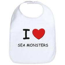 I love sea monsters Bib