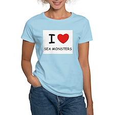 I love sea monsters Women's Pink T-Shirt