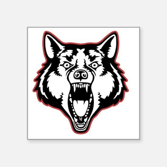 "wolf-1-T Square Sticker 3"" x 3"""