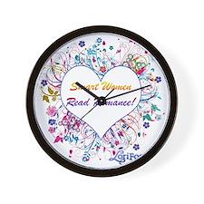 Smart Women Read Romance Wall Clock