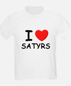 I love satyrs Kids T-Shirt