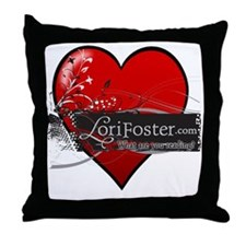 heart - What are you reading? Throw Pillow