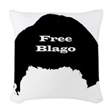 blagojevich2 Woven Throw Pillow