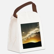 Wyoming Sunset Throw Pillow Canvas Lunch Bag