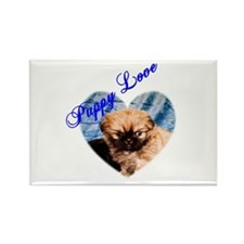 Puppy Love Rectangle Magnet (100 pack)