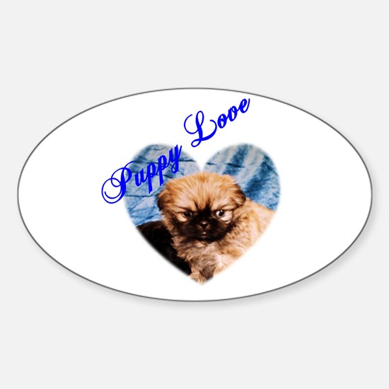 Puppy Love Oval Decal
