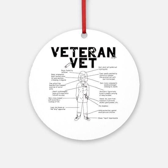 veteranvetfemale maybeuse Round Ornament