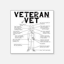 "veteranvetfemale maybeuse Square Sticker 3"" x 3"""