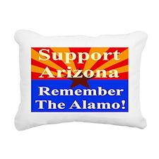 Arizona Alamo Yard Sign Rectangular Canvas Pillow