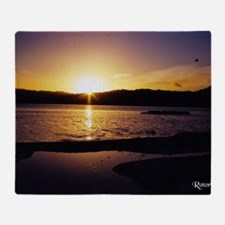 Lake-Rotorua-Sunrise-birds-182-10 Throw Blanket