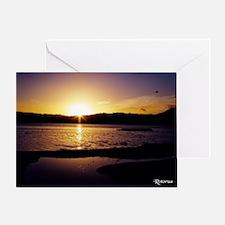 Lake-Rotorua-Sunrise-birds-182-10 Greeting Card