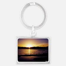 Lake-Rotorua-Sunrise-birds-182- Landscape Keychain