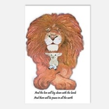 3-lion and lamb very very Postcards (Package of 8)