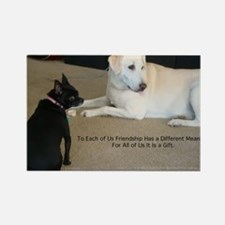 Dogs Friendship Rectangle Magnet