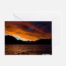 8077-Lake-Wanaka-Sunset5-7- Greeting Card