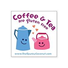 "CoffeeTeaMug Square Sticker 3"" x 3"""