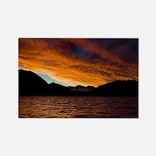 8077-Lake-Wanaka-Sunset5-7- Rectangle Magnet