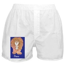 3-Lion and Lamb reworked in blue peac Boxer Shorts