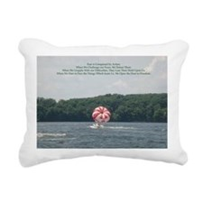 Conquer Fear Rectangular Canvas Pillow